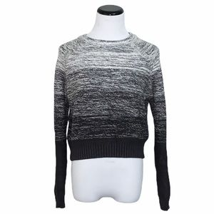 Honey Punch black white ombré cropped sweater